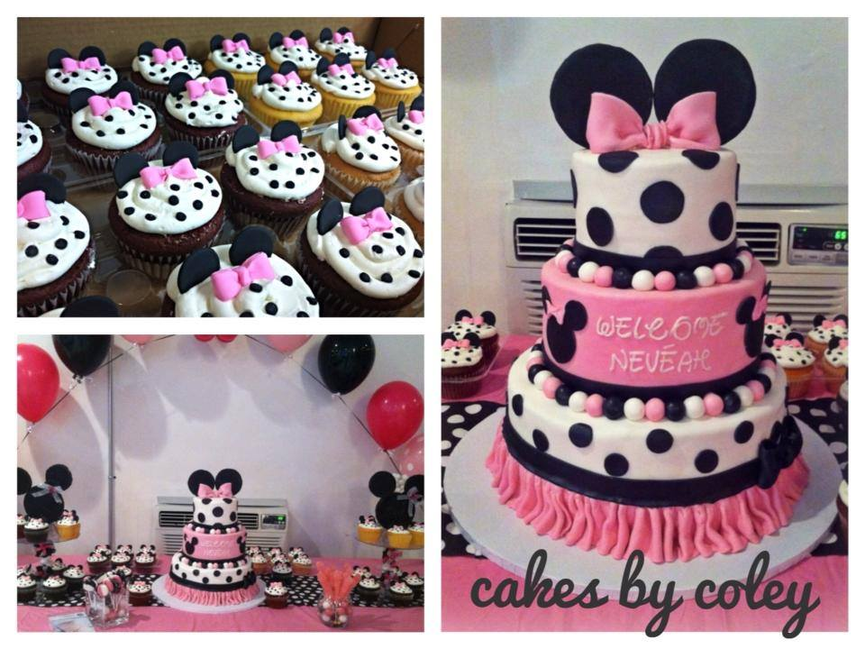 Minnie Mouse Baby Shower Cake Images : Baby shower de Minnie bebe - Imagui