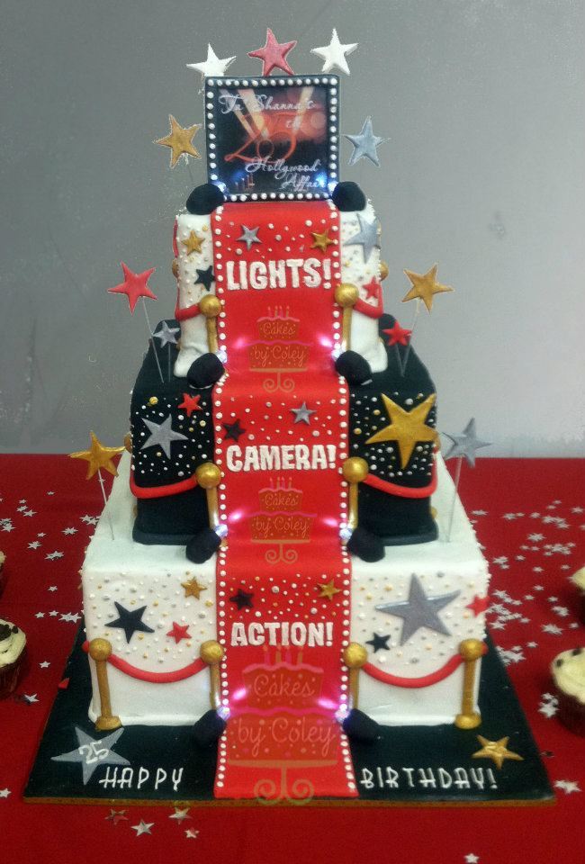 Red Carpet Cake Images : Pin Red Carpet Hollywood Birthday Cake Party Cake on Pinterest